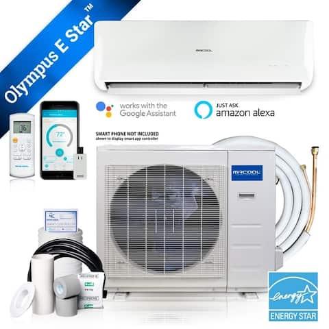 Olympus ENERGY STAR 9,000 BTU 3/4 Ton Ductless Mini-Split Air Conditioner and Heat Pump - 230V/60Hz