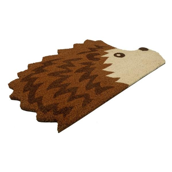 Hedgehog gift ideas Hedgehog shaped Doormat Hedgehog Door mat Coir Doormat
