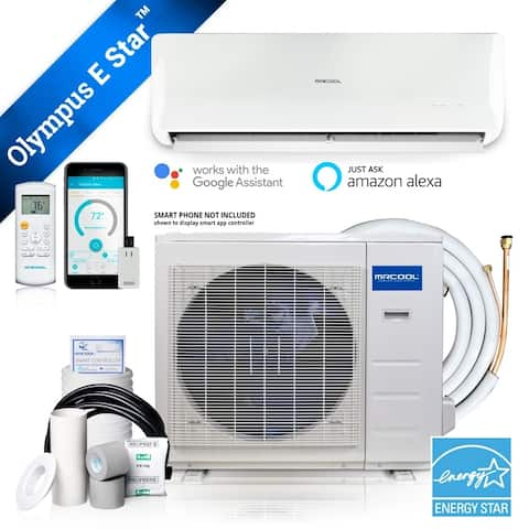 Olympus ENERGY STAR 12,000 BTU 1 Ton Ductless Mini Split Air Conditioner and Heat Pump - 230V/60Hz