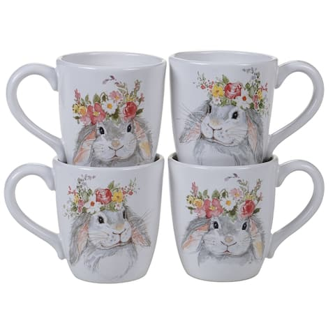 Certified International Sweet Bunny 5.75-inch Mugs, Set of 4