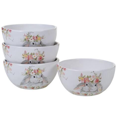 Certified International Sweet Bunny Ice Cream/Dessert Bowls, Set of 4