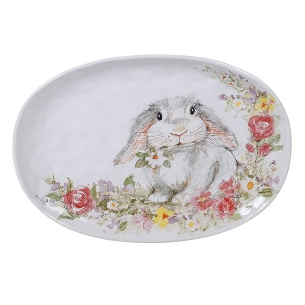 Certified International Sweet Bunny Oval Serving Platter
