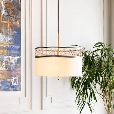 Belle Traditional Antiqued Crystal 3-Light Pendant