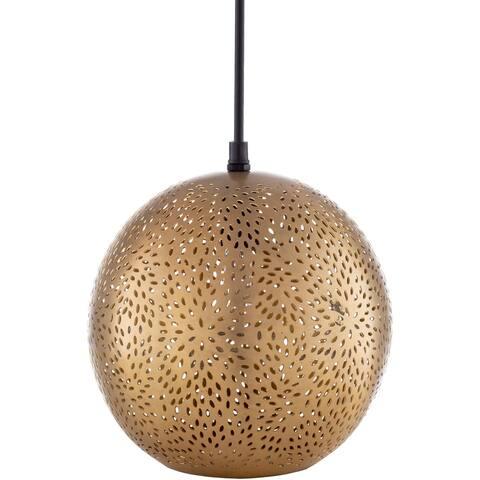 "Azle Modern Metal Globe 1-Light Pendant - Gold - 8""H x 8""W x 8""D - 8""H x 8""W x 8""D"