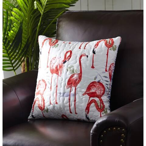 Harper Lane Fancy Flamingo Throw Pillow