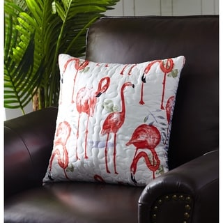Harper Lane Fancy Flamingo Throw Pillow