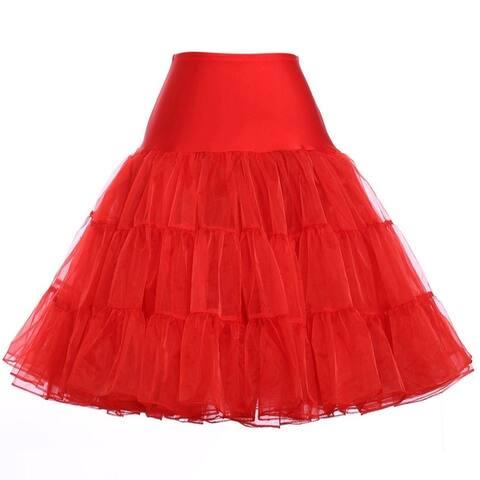 Women's 50s Rockabilly Petticoat Skirts Tutu Crinoline Underskirt
