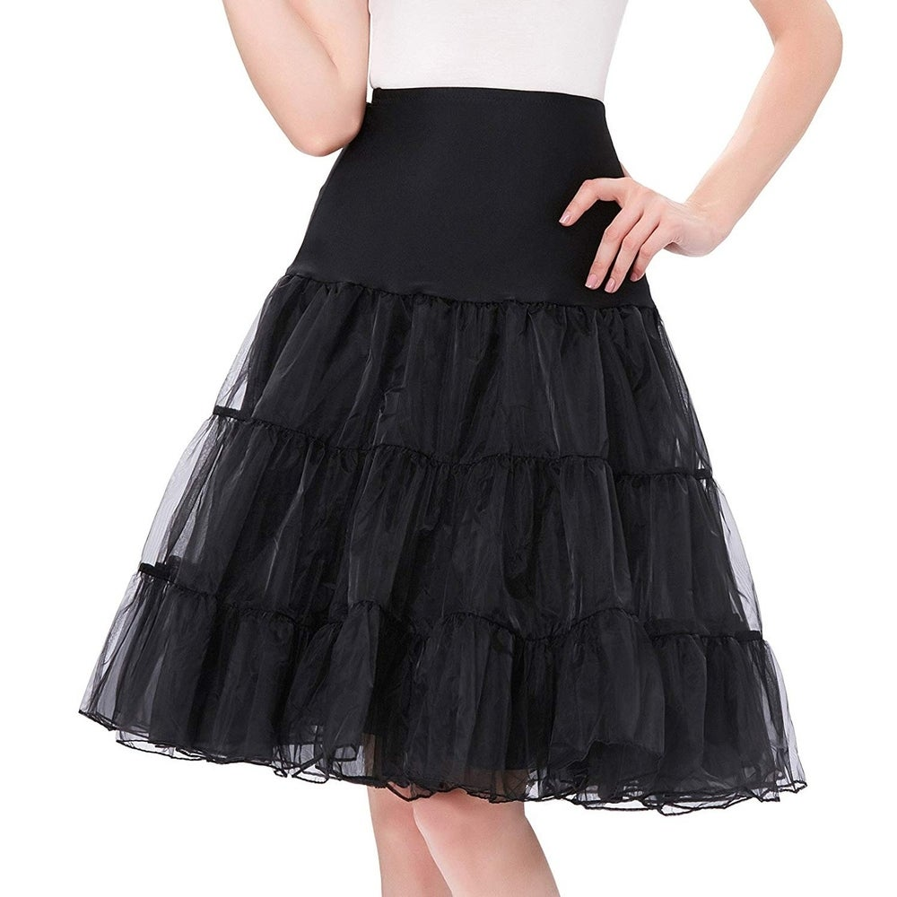Womens 50s Rockabilly Petticoat Skirts Tutu Crinoline Underskirt by  Find