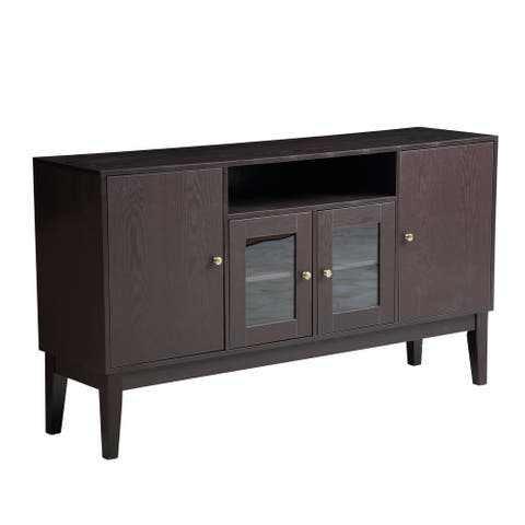 Modern Solid Wood Sideboard Buffet Table Storage Cabinet