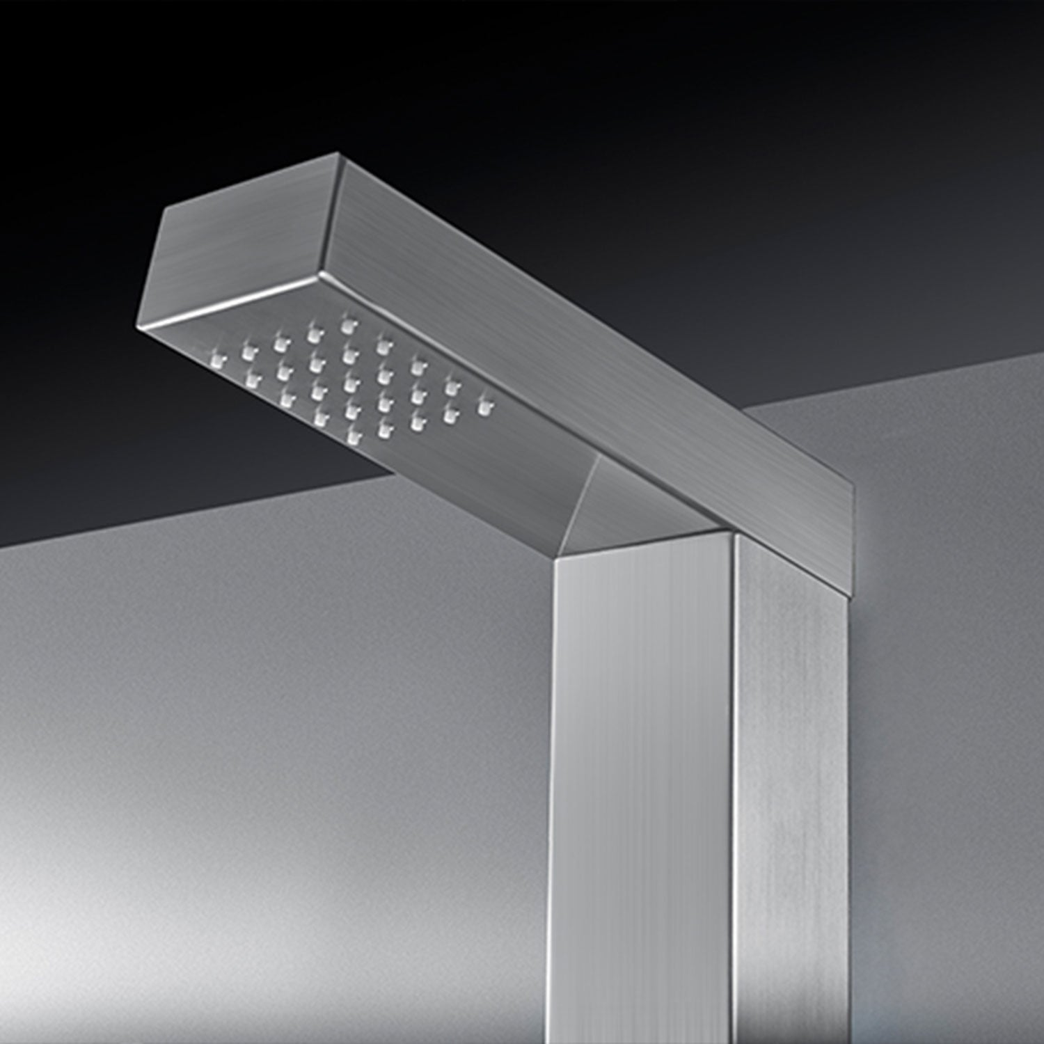Empava 83 In Freestanding Outdoor Pool Shower Tower With Rainfall Waterfall Shower Head In Stainless Steel
