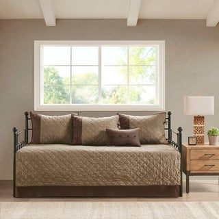 Link to Madison Park Westbrook Brown 6 Piece Reversible Daybed Cover Set Similar Items in Daybed Covers & Sets