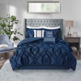 Link to Madison Park Elise Navy 7 Piece Velvet Comforter Set Similar Items in Comforter Sets