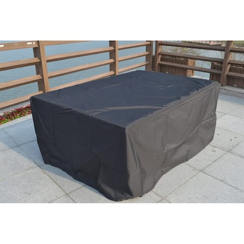 Plus Large Rectangular Weather-proof Furniture Cover for Outdoor Patio Dining Set by Direct Wicker