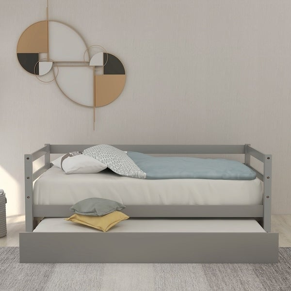 Merax Daybed with Trundle Frame Set
