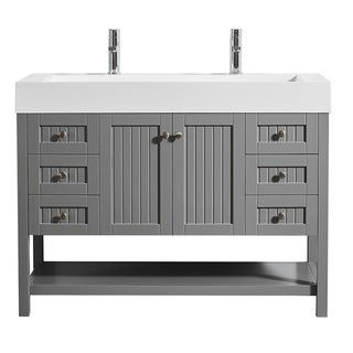 "Pavia 48"" Single Vanity in Grey with Acrylic under-mount Sink Without Mirror"