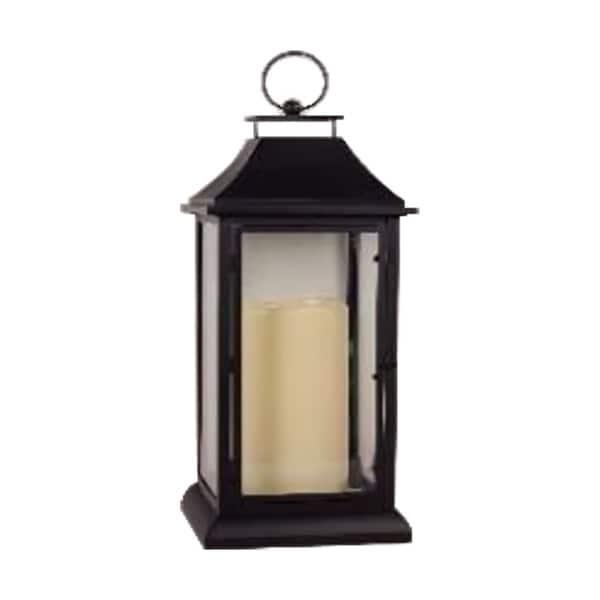 TX USA Corporation Belmont Holiday Decorative Candle Lantern, Large - Black