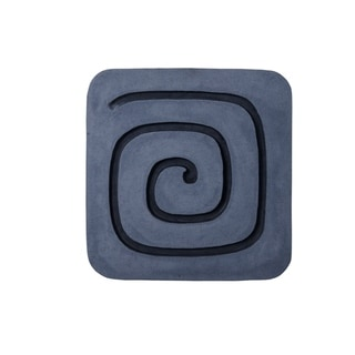 Sandstone Wall Decor with Square Spiral Design, Gray and Black