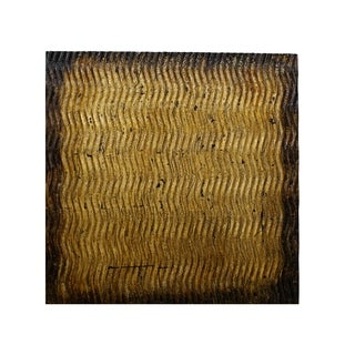 Link to Modern Style Wood Wall Decor with Patterned Carving, Large, Gold & Brown - 6 x 12 Similar Items in Wall Sculptures