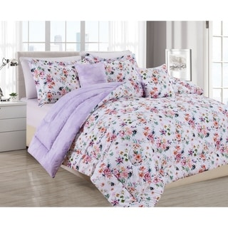 Link to BARBARIAN by Barbra Ignatiev Digital Printed Wild Love Floral Lilac 4/5pc Comforter Set (As Is Item) Similar Items in As Is