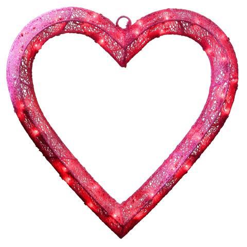 "15"" Pre-Lit Pink Heart"