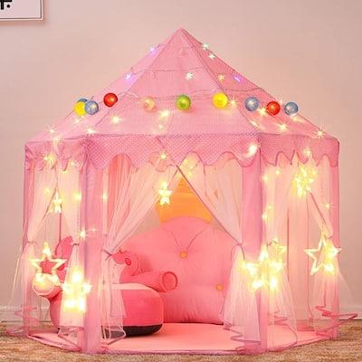 Princess Castle LED Pink Play Tent