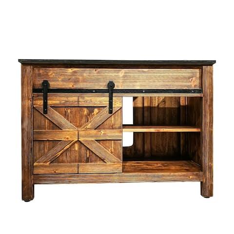 """Barn Door Vanity 48 """" wide"""