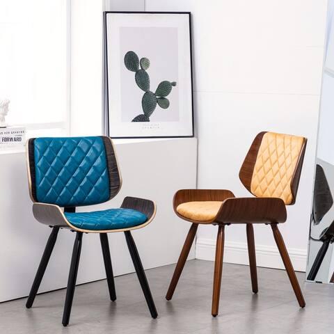 Karish Diamond Stitch Padding & Wood Dining Side Chair