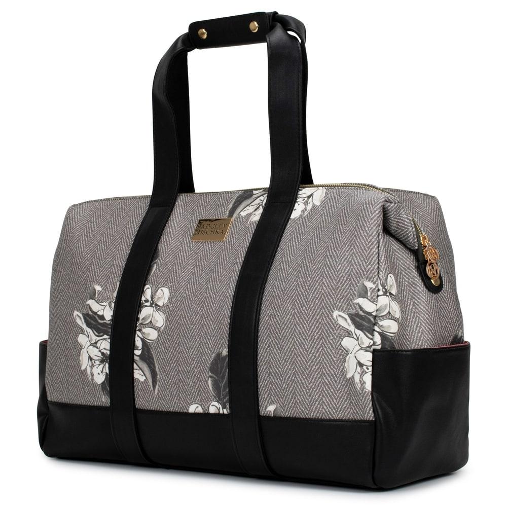 Elegant Paisley PU Leather and Suede Weekender Bag