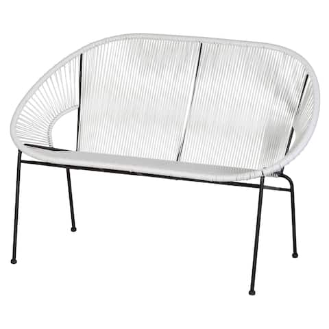 Kiwai White Acapulco Loveseat by Havenside Home