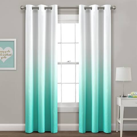 Lush Decor Mia Ombre Insulated Grommet Blackout Window Curtain Panel Pair