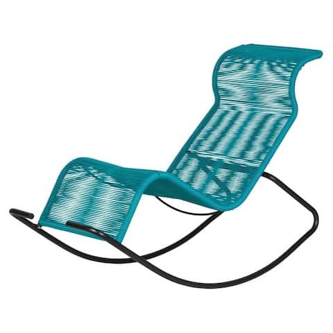 Kiwai Blue Acapulco Rocking Chair by Havenside Home