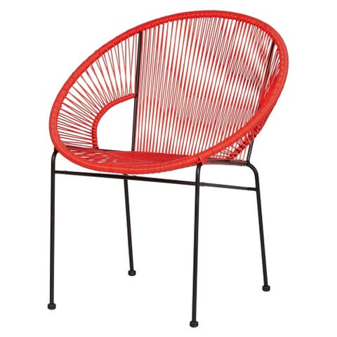 Kiwai Orange Acapulco Lounge Chair by Havenside Home