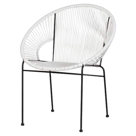 Kiwai White Acapulco Lounge Chair by Havenside Home