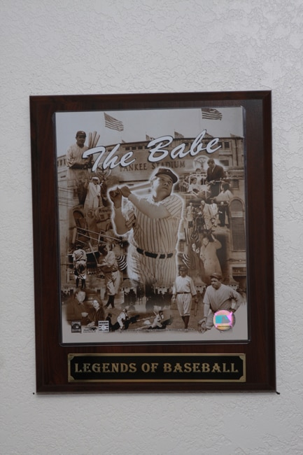 Babe Ruth Collectible Plaque