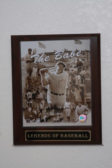 Babe Ruth Collectible Plaque