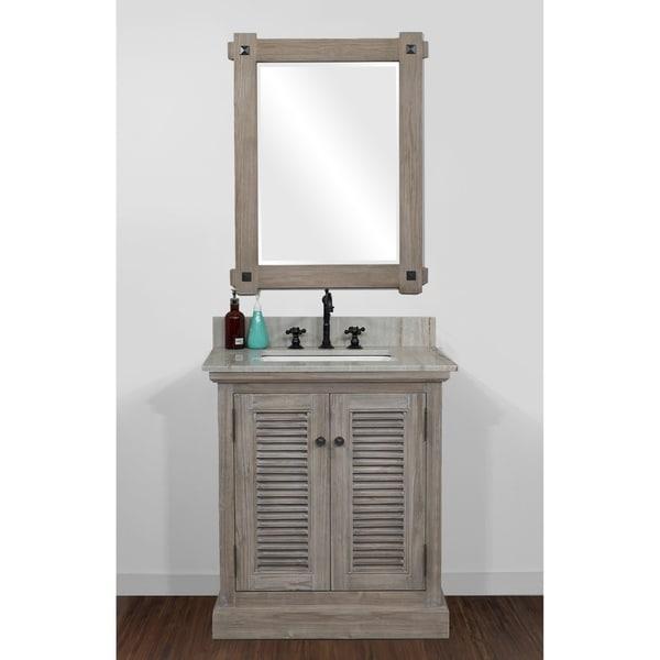 Shop Rustic Style 31 inch Single Sink Bathroom Vanity with ...