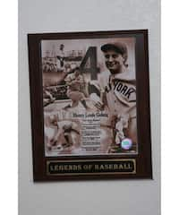 Lou Gehrig Collectible Plaque