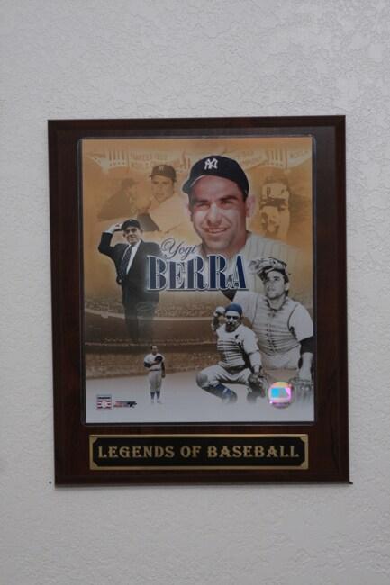 Yogi Berra Collectible Plaque