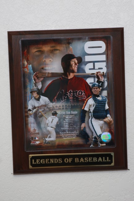Craig Biggio Collectible Plaque