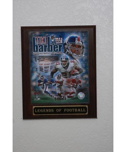 Tiki Barber Collectible Plaque
