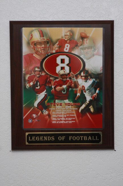 Steve Young Collectible Plaque