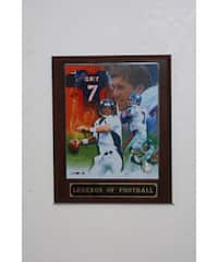 John Elway Collectible Plaque