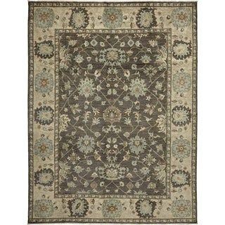 Traditional Oriental Silky Oushak One-of-a-Kind Hand-Knotted Area Rug - 9 x 12