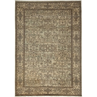 Traditional Oriental Silky Oushak One-of-a-Kind Hand-Knotted Area Rug - 6 x 9