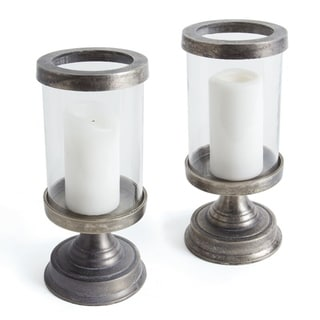Link to Lovett Pewter Aluminum Hurricane (Set of 2) Similar Items in Decorative Accessories