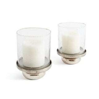 Small Glass and Metal Hurricanes (Set of 2)
