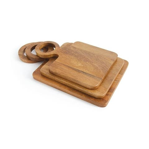 Duval Mango Wood 3-piece Cheese Board Set