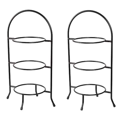 Creative Home Iron Works 3-tier Dessert Plate, Serving Rack Set (Set of 2)