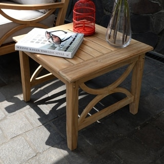 Havenside Home Delray Teak Patio Side Table