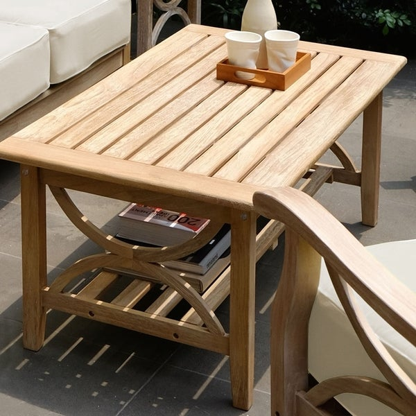 Havenside Home Delray Teak Patio Coffee Table